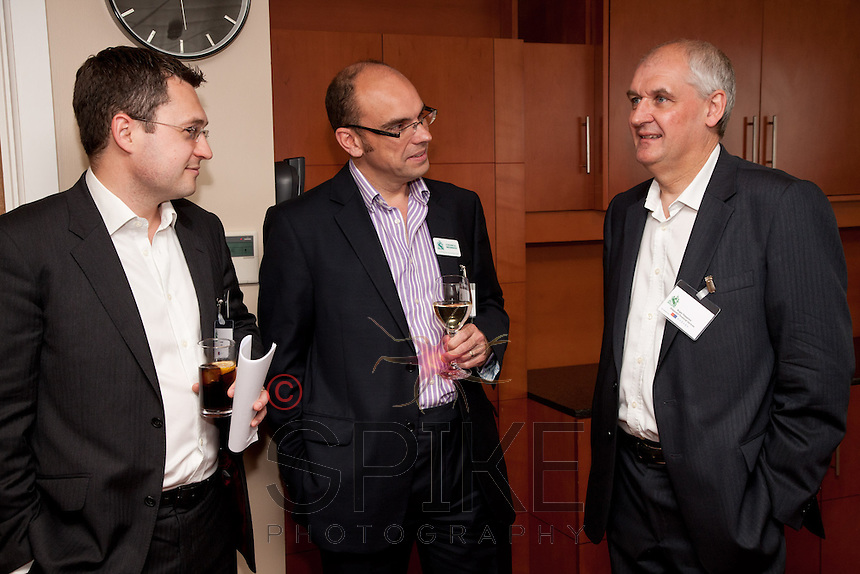 From left, Nic Elliott of Actons, Andy Chruchill of Urban Village Property and Roger Sheppard of Roger Sheppard Financial Services