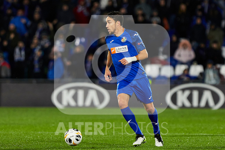 Jaime Mata of Getafe FC during UEFA Europa League between Getafe CF and FC Krasnodar at Coliseum Alfonso Perez in Madrid, Spain. December 12, 2019. (ALTERPHOTOS/A. Perez Meca)