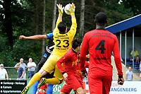 ASSEN - Voetbal, ACV - Magreb 90, derde divisie zaterdag, seizoen 2017-2018, 25-08-2017 doelman Mounir Ouaj onderschept een voorzet
