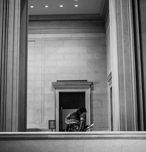 Thinking at the National Gallery of Art, Washington, DC