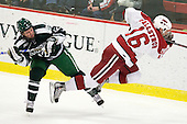 Kyle Reeds (Dartmouth - 12), Alex Fallstrom (Harvard - 16) - The Harvard University Crimson defeated the Dartmouth College Big Green 4-1 (EN) on Monday, January 18, 2010, at Bright Hockey Center in Cambridge, Massachusetts.