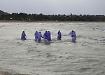 Muslim girls bathing in their clothes, Pasikudah Bay, Eastern Province, Sri Lanka, Asia