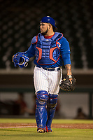 AZL Cubs 1 catcher Alexander Guerra (6) during an Arizona League game against the AZL Diamondbacks at Sloan Park on June 18, 2018 in Mesa, Arizona. AZL Diamondbacks defeated AZL Cubs 1 7-0. (Zachary Lucy/Four Seam Images)