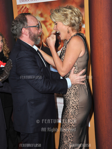 Paul Giamatti &amp; Emma Thompson at the US premiere of their movie &quot;Saving Mr Banks&quot; at Walt Disney Studios, Burbank.<br /> December 9, 2013  Los Angeles, CA<br /> Picture: Paul Smith / Featureflash