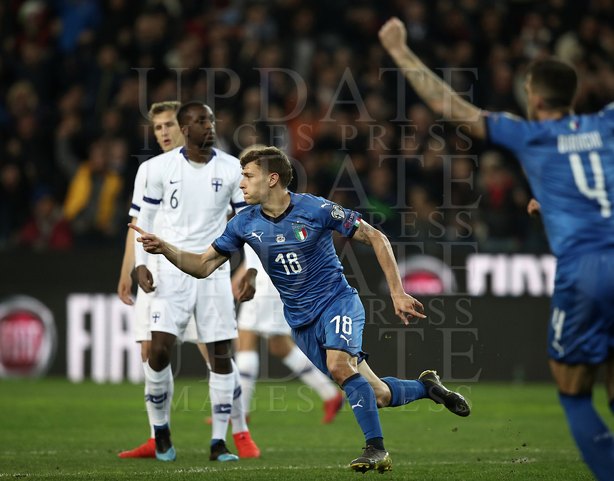 Football: Euro 2020 Group J qualifying football match Italy vs Finland at the Friuli Stadium in Udine on march  23, 2019<br />