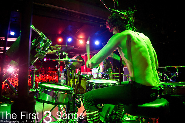 Arejay Hale of Halestorm performs at Bogarts in Cincinnati, Ohio.