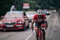 Tsgabu Grmay (ETH/Trek-Segafredo)<br /> <br /> Stage 5: Grenoble &gt; Valmorel (130km)<br /> 70th Crit&eacute;rium du Dauphin&eacute; 2018 (2.UWT)
