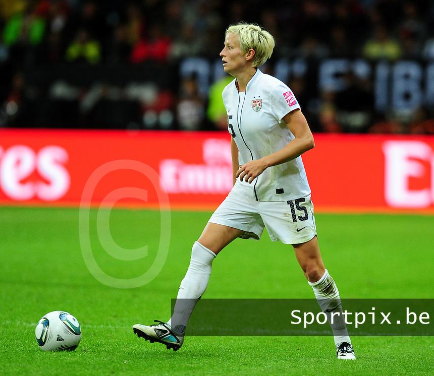Fifa Women's World Cup Germany 2011 : Japan - USA  at Commerzbank Arena Frankfurt : Megan Rapinoe.foto DAVID CATRY / Vrouwenteam.be