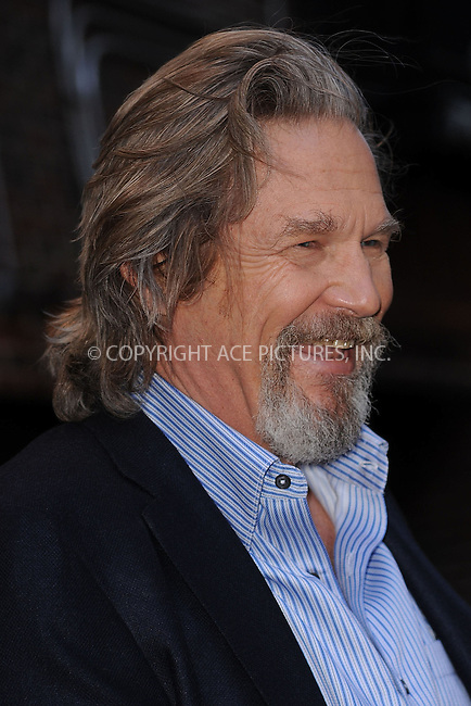 WWW.ACEPIXS.COM . . . . . ....February 8 2010, New York City....Actor Jeff Bridges made an appearance on the 'Late Show With David Letterman' at the Ed Sullivan Theater on February 8, 2010 in New York City.....Please byline: KRISTIN CALLAHAN - ACEPIXS.COM.. . . . . . ..Ace Pictures, Inc:  ..(212) 243-8787 or (646) 679 0430..e-mail: picturedesk@acepixs.com..web: http://www.acepixs.com