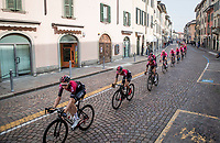 Team Ineos escorting team leader Egan Bernal (COL/Ineos) through town<br /> <br /> 113th Il Lombardia 2019 (1.UWT)<br /> 1 day race from Bergamo to Como (ITA/243km)<br /> <br /> ©kramon