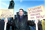 Martin Flanagan at the protest march for Dr. Muldoon on Saturday..Picture Paul Mohan Newsfile