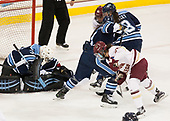 Carly Jackson (Maine - 33), Kenzie Kent (BC - 12), Brooke Stacey (Maine - 3), Alyson Matteau (Maine - 7), Andie Anastos (BC - 23) - The Boston College Eagles defeated the visiting University of Maine Black Bears 2-1 on Saturday, October 8, 2016, at Kelley Rink in Conte Forum in Chestnut Hill, Massachusetts.  The University of North Dakota Fighting Hawks celebrate their 2016 D1 national championship win on Saturday, April 9, 2016, at Amalie Arena in Tampa, Florida.