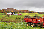 Dairy farm in Kirby, Vermont, USA