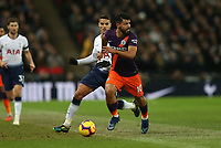 Sergio Aguero of Manchester City on the attack during Tottenham Hotspur vs Manchester City, Premier League Football at Wembley Stadium on 29th October 2018