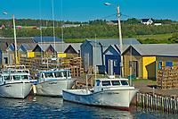 Fishing boats in coastal village<br />North Lake<br />Prince Edward Island<br />Canada