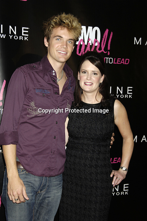 Tyler Hilton and Susan Schulz ..at the CosmoGIRL luncheon celebrating future leaders with its annual Born To Lead awards on November 8, 2005 at The Atlman Building. ..Photo by Robin Platzer, Twin Images