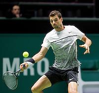 Februari 11, 2015, Netherlands, Rotterdam, Ahoy, ABN AMRO World Tennis Tournament, Grigor Dimitrov (BUL)<br /> Photo: Tennisimages/Henk Koster