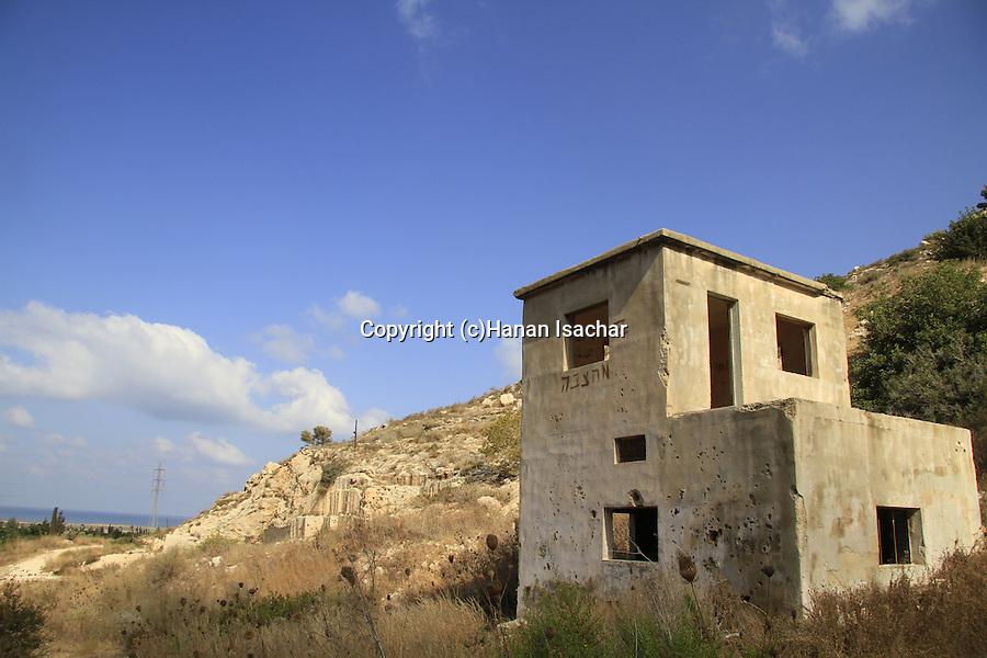 Israel, Carmel, an old quarry in Nahal Sfunim