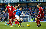 01.02.2020 Rangers v Aberdeen: Scott Arfield shoots despite the attention of Aberdeen defenders