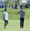 (R-L) Ryo Ishikawa (JPN), Hiroyuki Kato,.JANUARY 17, 2013 - Golf :.Ryo Ishikawa of Japan and his caddie Hiroyuki Kato during the first round of the Humana Challenge at PGA West in La Quinta, California, United States. (Photo by AFLO)