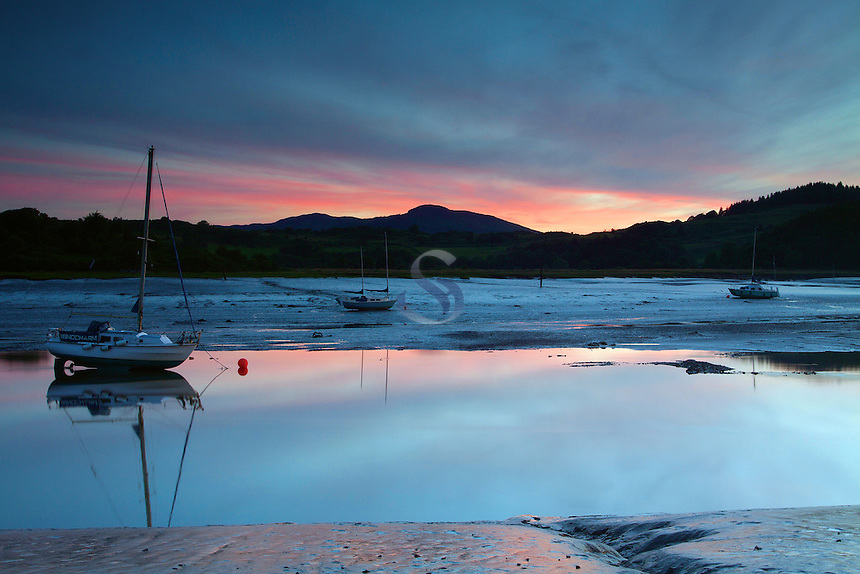 Sunset over the Rough Firth from Kippford, Dumfries and Galloway