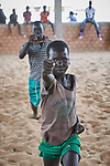 A boy participates in recreational activities sponsored by Jesuit Refugee Service in the Doro Refugee Camp in Maban, South Sudan. The camp is one of four in Maban that together shelter more than 130,000 refugees from the Blue Nile region of Sudan. The recreational program is one of several psycho-social activities that JRS carries out in the camp.<br /> <br /> Misean Cara supports the work of JRS in the Maban camps.