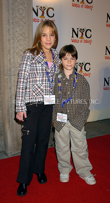WWW.ACEPIXS.COM . . . . .  ....NEW YORK, OCTOBER 4, 2004....Kristen Alderson and Eddie Alderson attending the grand opening of the World of Disney Flagship Store.....Please byline: AJ Sokalner - ACE PICTURES..... *** ***..Ace Pictures, Inc:  ..Alecsey Boldeskul (646) 267-6913 ..Philip Vaughan (646) 769-0430..e-mail: info@acepixs.com..web: http://www.acepixs.com