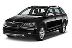 2015 Skoda Octavia Scout 5 Door Wagon Angular Front stock photos of front three quarter view