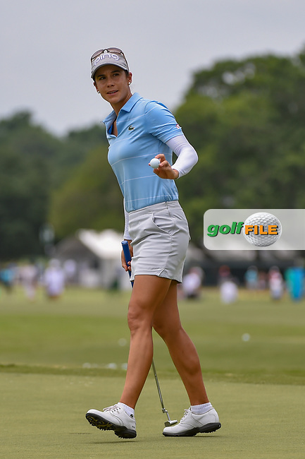 Azahara Munoz (ESP) after sinking her putt on 9 during round 2 of the 2019 US Women's Open, Charleston Country Club, Charleston, South Carolina,  USA. 5/31/2019.<br /> Picture: Golffile | Ken Murray<br /> <br /> All photo usage must carry mandatory copyright credit (© Golffile | Ken Murray)
