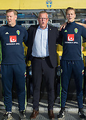 June 1th 2017, Ullevaal Stadion, Oslo, Norway; International Football Friendly 2018 football, Norway versus Sweden; Janne Andersson of Sweden head coach stands for Sweden national anthem before the kick off