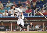 Ichiro Suzuki (Marlins),<br /> APRIL 8, 2015 - MLB :<br /> Ichiro Suzuki of the Miami Marlins runs to first base after bunting for a single in the seventh inning during the Major League Baseball game against the Atlanta Braves at Marlins Park in Miami, Florida, United States. (Photo by AFLO)
