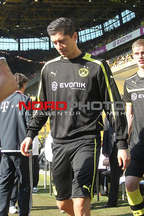 04.05.2013, Signal Iduna Park, Dortmund, Deutschland, 1. FBL, Borussia Dortmund vs. FC Bayern Muenchen, im Bild<br /> Robert Lewandowski (Dortmund #9)<br /> <br /> Foto &copy; nph / Mueller