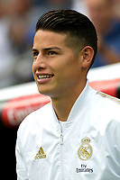 MADRID-ESPAÑA, 14-09-2019: James Rodriguez jugador de Real Madrid durante partido de la Liga de España, Real Madrid y Levante en el estadio Santiago Bernabeu de la ciudad de Madrid, España. / James Rodriguez player of Real Madrid during a match between Real Madrid and Levante for the Liga of Spain in the Santiago Bernabeu stadium in Madrid, Spain Photo: ChakanaNews / Patricio Realpe / VizzorImage.