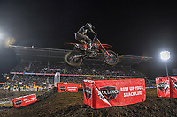 Josh Hanson (USA)<br /> 2018 SX Open - Auckland / SX 1<br /> FIM Oceania Supercross Championships<br /> Mt Smart Stadium / Auckland NZ<br /> Saturday Nov 24th 2018<br /> © Sport the library/ Jeff Crow / AME