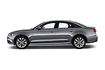 Car driver side profile view of a 2018 Audi A6 Base 4 Door Sedan