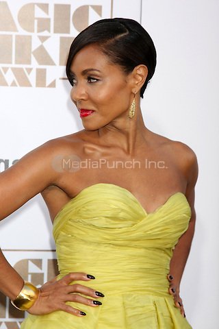 "LOS ANGELES, CA - JUNE 25: Jada Pinkett Smith  at the ""Magic Mike XXL"" Premiere at the TCL Chinese Theater on June 25, 2015 in Los Angeles, California. Credit: David Edwards/MediaPunch"