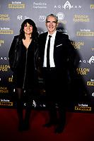 Raymond Domenech et Estelle Denis<br /> Parigi 3-12-2018 <br /> Arrivi Cerimonia di premiazione Pallone d'Oro 2018 <br /> Foto JB Autissier/Panoramic/Insidefoto <br /> ITALY ONLY