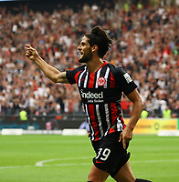 celebrate the goal, Torjubel zum 2:1 Goncalo Paciencia (Eintracht Frankfurt) - 01.09.2019: Eintracht Frankfurt vs. Fortuna Düsseldorf, Commerzbank Arena, 3. Spieltag<br /> DISCLAIMER: DFL regulations prohibit any use of photographs as image sequences and/or quasi-video.