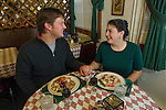 couple enjoys a date and Italian cuisine, model release #127