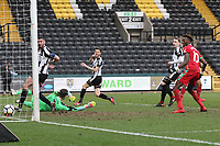 Luciano Narsingh slips a perfect cross to score against Notts County during The Emirates FA Cup match between Notts County and Swansea City at Meadow Lane, Nottingham, England, UK. Saturday 27 January 2018
