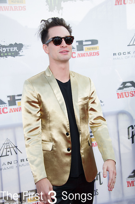 Brendon Urie of Panic! At The Disco attends the 2014 AP Music Awards at the Rock And Roll Hall Of Fame and Museum at North Coast Harbor in Cleveland, Ohio.