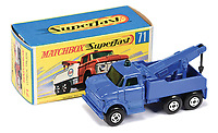 BNPS.co.uk (01202 558833)<br /> Pic: Vectis/BNPS<br /> <br /> Pictured: Matchbox Superfast 71a Ford Heavy Wreck Truck Multi-Pack Issue<br /> <br /> One man's vast collection of model cars amassed over a lifetime has sold at auction for an incredible £250,000.<br /> <br /> Simon Hope, 68, has been collecting matchbox models since he was a small child and has bought over 4,000 over the past six decades.<br /> <br /> His hobby has cost him thousands of pounds and at and engulfed a huge slice of his life but he has now decided to part with the toys