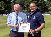 Cricket Scotland - Scotland V Zimbabwe One Day International match at Grange CC today (Thur) - this match is the second of two ODI matches this week against Zimbabwe, and Scotland won the first encounter, on Thursday, by 26 runs - Ammar Ashraf with Bruce Dixon - picture by Donald MacLeod - 17.06.2017 - 07702 319 738 - clanmacleod@btinternet.com - www.donald-macleod.com