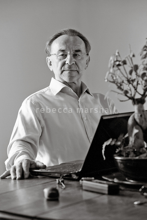 Jacques Moscato, author and former orchestral conductor, poses for the photographer at his Monaco home, Thursday 22 October 2009.