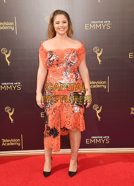 LOS ANGELES, CA - SEPTEMBER 11: Actress Kether Donohue attends the 2016 Creative Arts Emmy Awards held at Microsoft Theater on September 11, 2016 in Los Angeles, California.<br /> CAP/ROT/TM<br /> &copy;TM/ROT/Capital Pictures