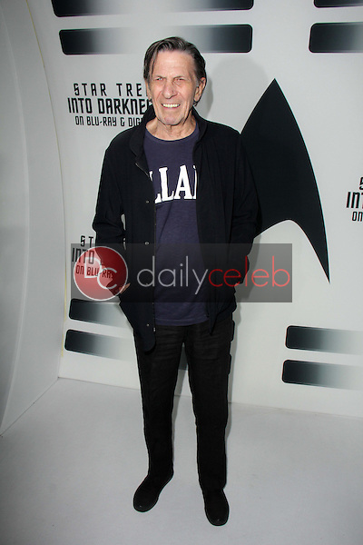 """Leonard Nimoy<br /> at the """"Star Trek Into Darkness"""" Blu-Ray and DVD Release Party, California Science Center, Los Angeles, CA 09-10-13<br /> David Edwards/Dailyceleb.com 818-249-4998"""
