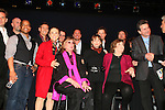 Curtain Call - cast - Kevin Spirtas, Brian Lane Green, Tovah Feldshuh, Anne Meara, Phylls Newman performs at the Broadway For A New America presented by the Jewish Alliance for Change on April 13, 2009 at the Peter Norton Symphony Space, NYC. (Photo by Sue Coflin/Max Photos)