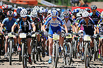 June 7, 2014 - Vail, Colorado, U.S. - The start of the Women's Pro Mountain Bike competition during the GoPro Mountain Games, Vail, Colorado.   Adventure athletes from around the world converge on Vail, Colorado, June 5-8, for America's largest celebration of adventure sports, music and the mountain lifestyle.