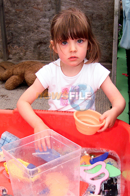 Chloe Joliff from Sandpit enjoying the Termonfeckin Playschool summer camp..Picture: Paul Mohan/Newsfile