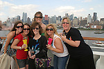 Guiding Light fans - Brie, Amanda, Kim, Wendy, Sundi - back: Christine - Day 1 July 31, 2010 - So Long Springfield at Sea - A Final Farewell To Guiding Light sets sail from NYC to St. John, New Brunwsick and Halifax, Nova Scotia from July 31 to August 5, 2010  aboard Carnival's Glory (Photos by Sue Coflin/Max Photos)